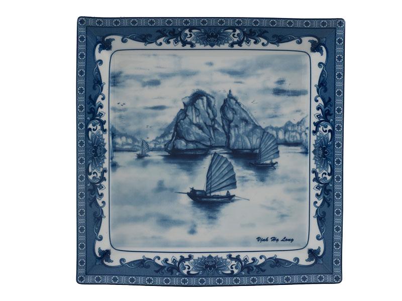 Dĩa vuông lá 27 cm - Daisy - Vịnh Hạ Long