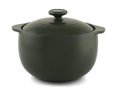 Nồi dưỡng sinh thân tròn 3.5L + nắp (bếp từ) - Healthycook - Xanh rêu