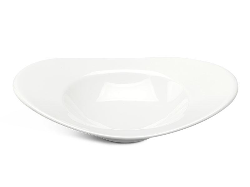 Tô oval vành 26 cm - Anh Vũ Ly's - Trắng Ngà