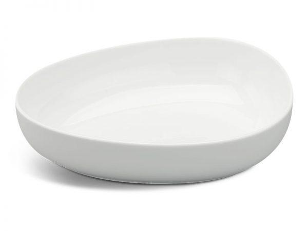 Tô tam giác tròn 21 cm - Gourmet - Trắng Ngà