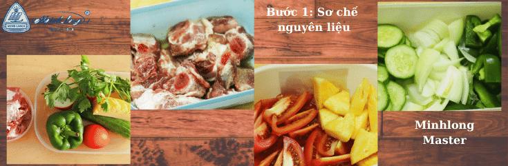 Sơ chế nguyên liệu cách làm sườn xào chua ngọt
