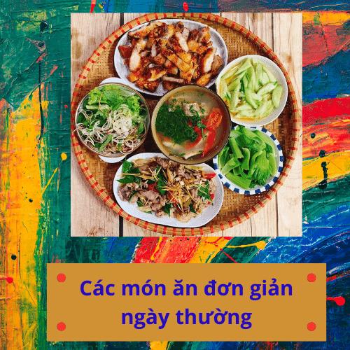 Các món ăn thường ngày đơn giản