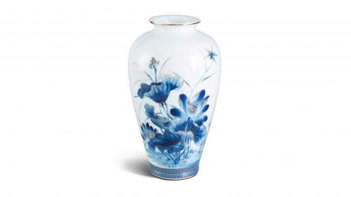 Quà Tặng Doanh Nghiệp Bình hoa 25 cm – Sen Vàng Men Ngọc