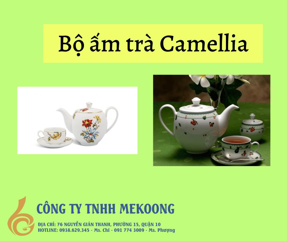 Bộ ấm trà Camellia, Bộ bình trà Camellia, Bộ Tách Trà Camellia