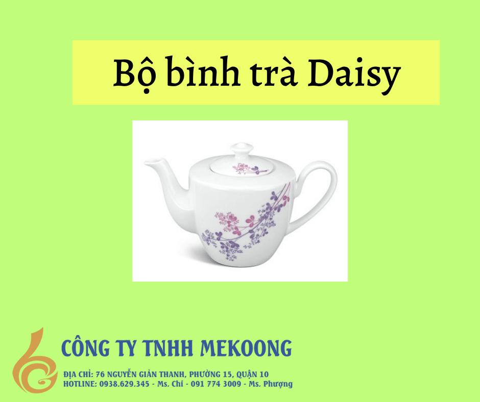Bộ bình trà Daisy. bộ ấm chén Daisy