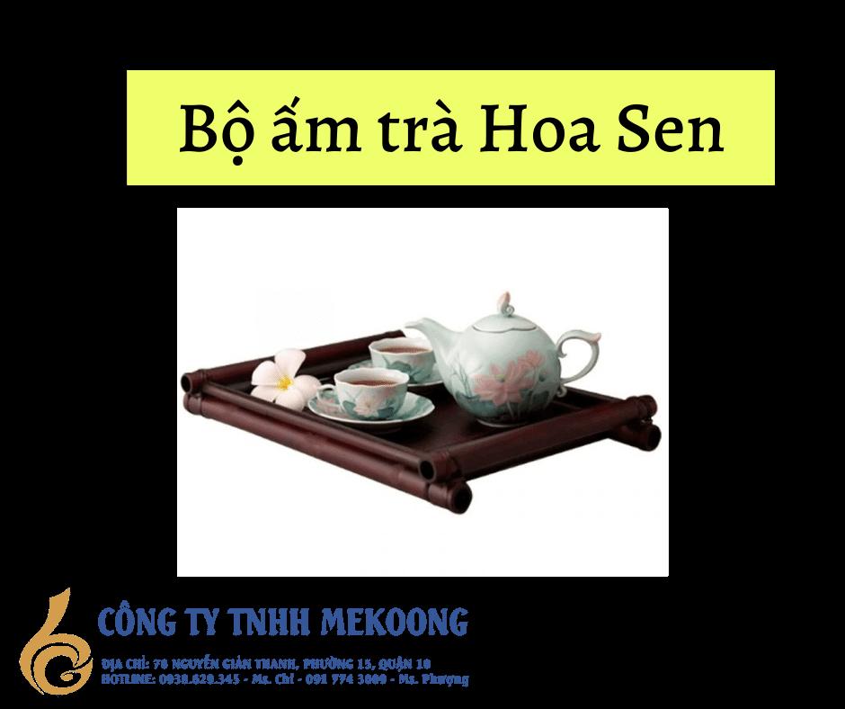 Bộ ấm trà hoa Sen Minh Long | Minhlong master